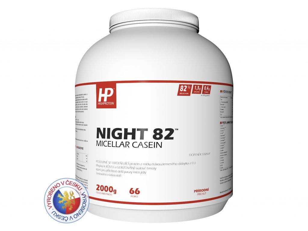 Dóza přírodní 2000 HIGHPROTEIN Night 82™ Micellar Casein CZ 2
