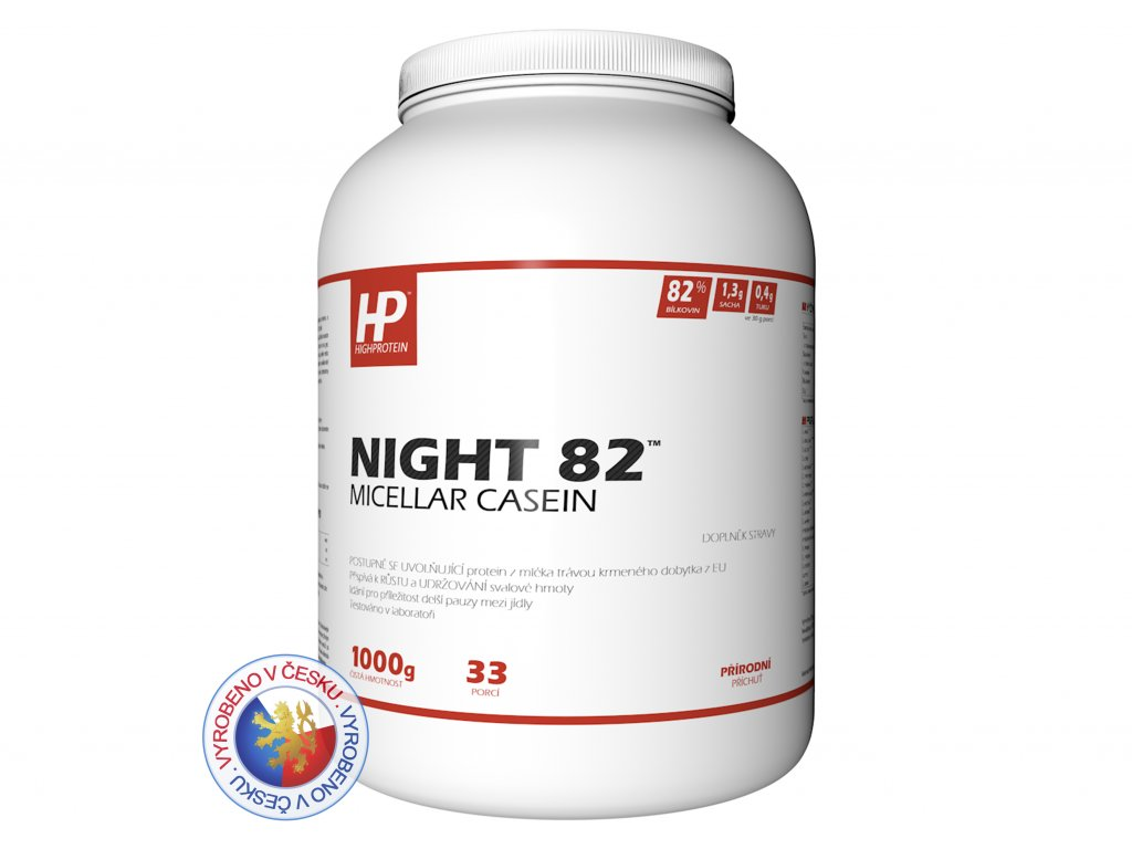 Dóza přírodní 1000 HIGHPROTEIN Night 82™ Micellar Casein CZ 2