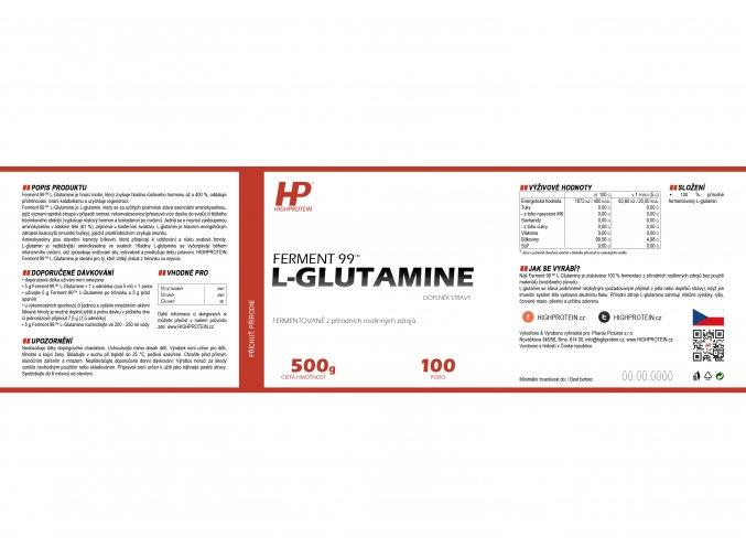 Ferment 99™ L Glutamine HIGHPROTEIN cz 3