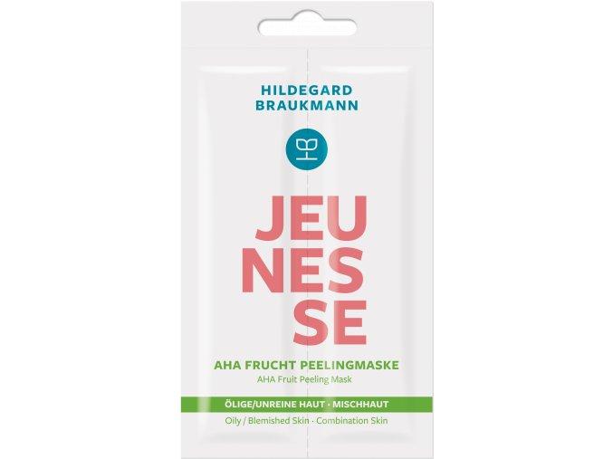 Jeunesse AHA Frucht Peelingmaske  Speciální peeling s organickou ovocnou kyselinou bez abrazivních částic 2x7 ml