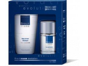 Evolution  Dárkový balíček pro pány Tělový a vlasový šampon 75ml a Pánská toaletní voda 30 ml
