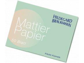 Limitierte Editionen Mattier Papier  Ubrousky do kabelky pro pohodlné odstranění lesku z pokožky obličeje 50 ks