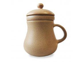 Bylinkáč - keramický hrníček na sypané čaje, 400 ml