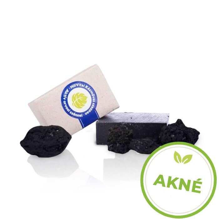 HillVital | Mýdlo na akné s aktivním lékařským uhlím 95 g