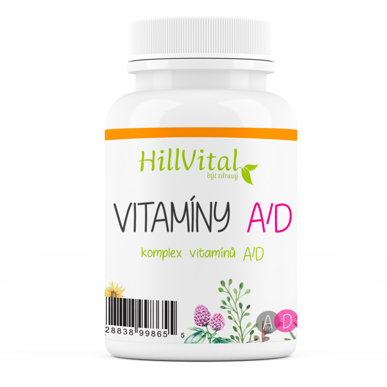 HillVital   Vitamín A - D pro zdravou pokožku, nehty a vlasy 60 ks