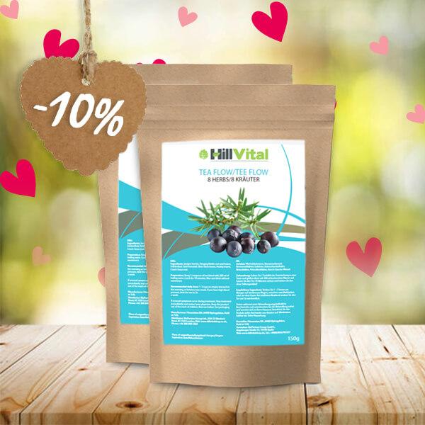 HillVital | Čaj na dnu a detoxikaci - Dvojbalení čaje Flow 300g