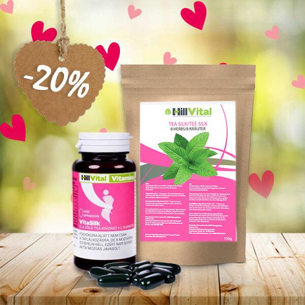 HillVital | Balíček čaje a vitamínů na podporu hubnutí 200g