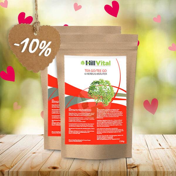 HillVital | Čaj na klouby, revma, artrózu - dvojbalení čaje GO 300g