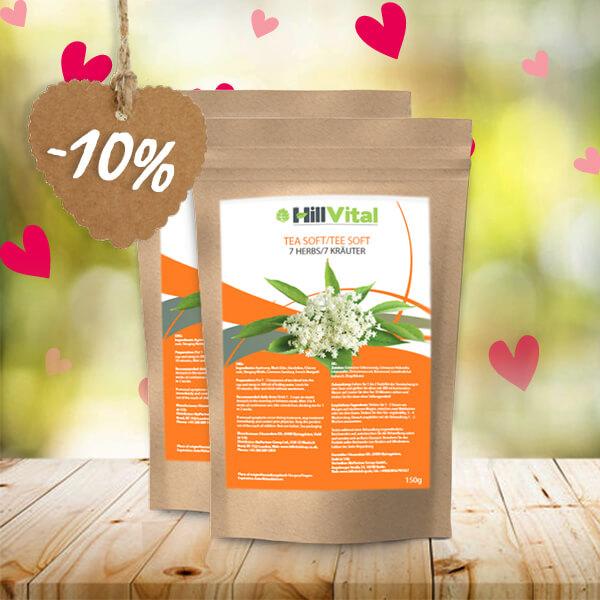 HillVital | Čaj na lupénku - Dvojbalení čaje Soft 300g