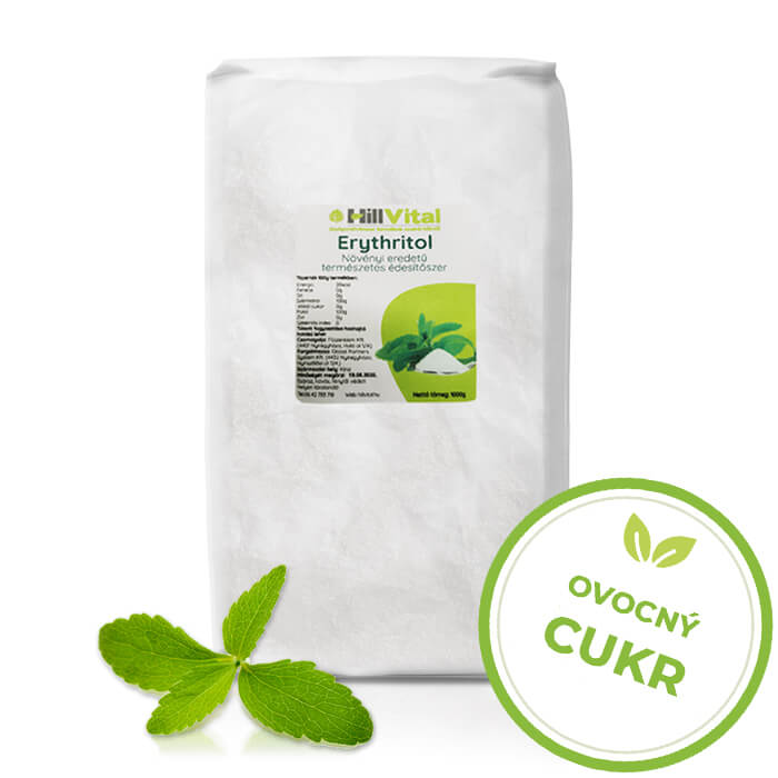 HillVital   Erythritol (eritrit) - ovocný cukr 1000g