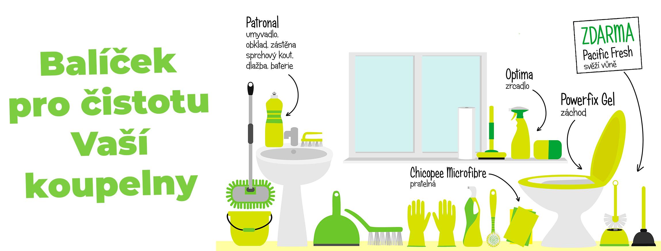 Balíček pro čistotu Vaší koupelny