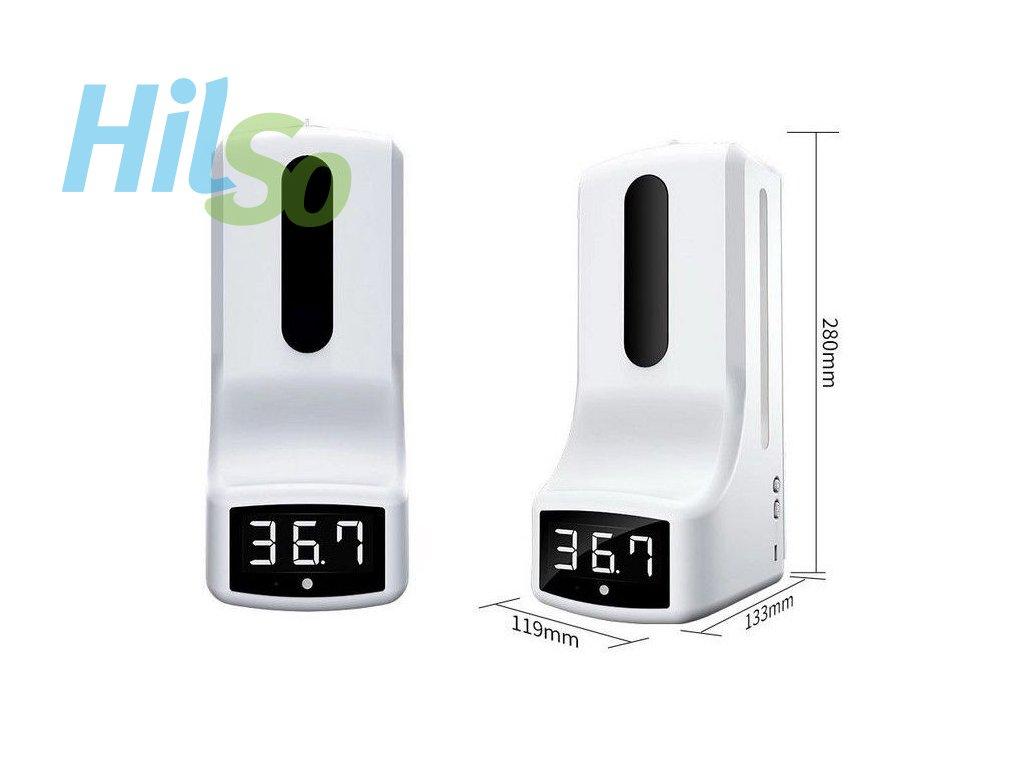 Bezkontaktní dávkovač dezinfekce s infra teploměrem HDK9PRO