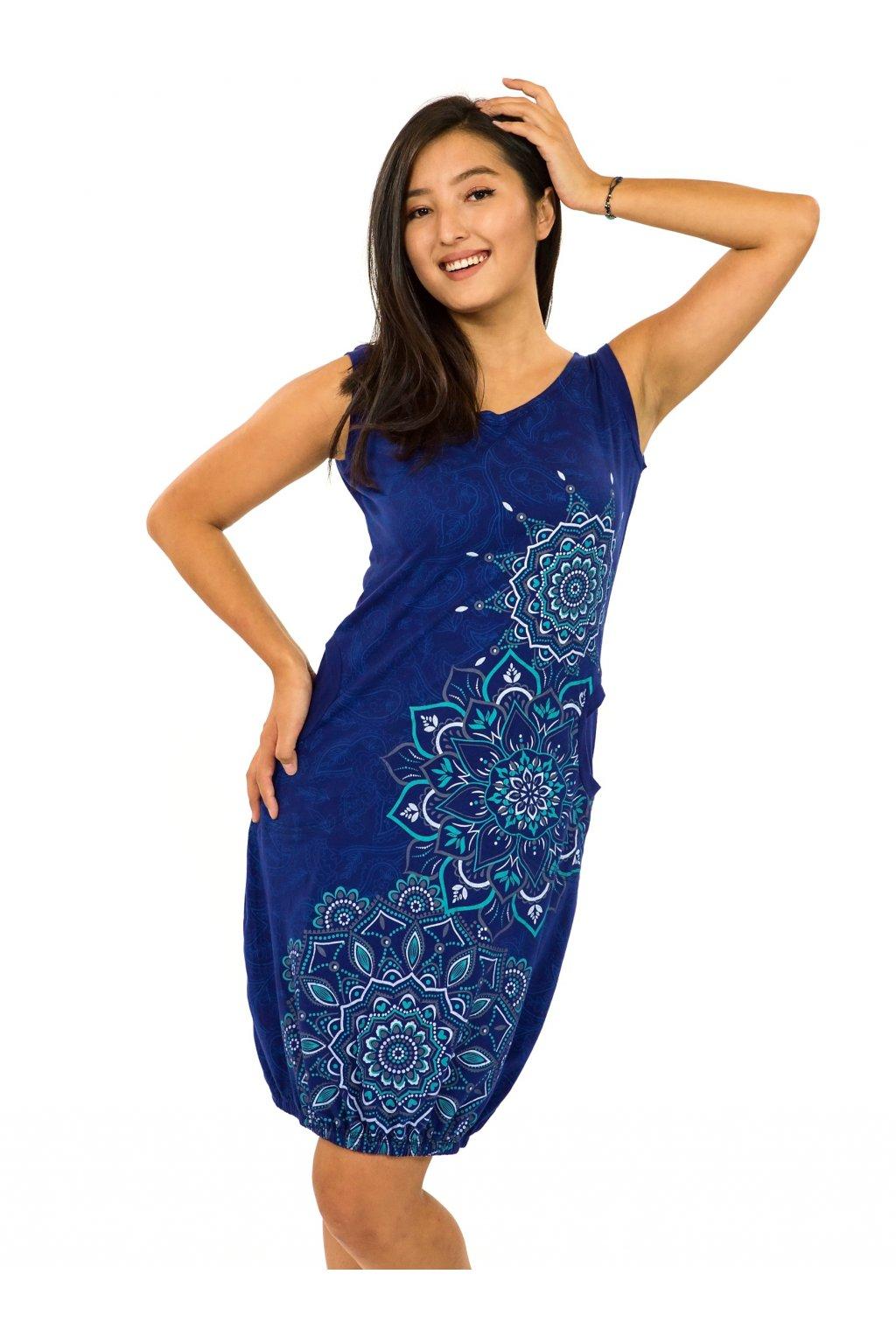 Balonové šaty Lhasa - královská modrá