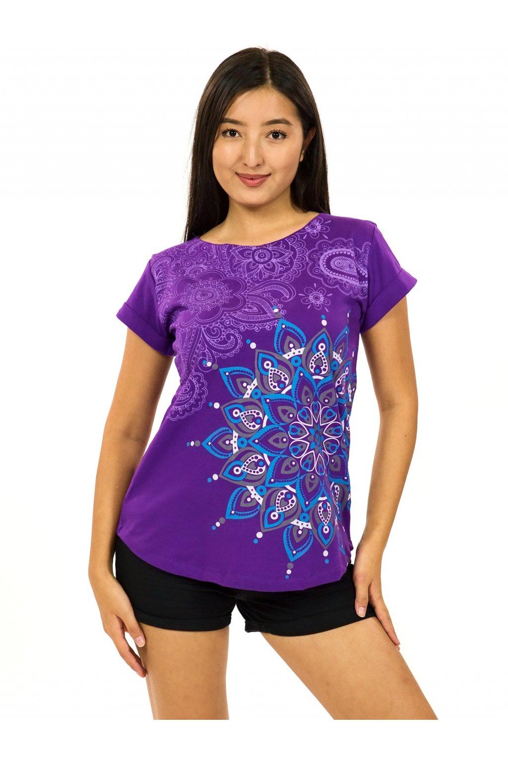 Tričko s krátkým rukávem Zafira - fialová