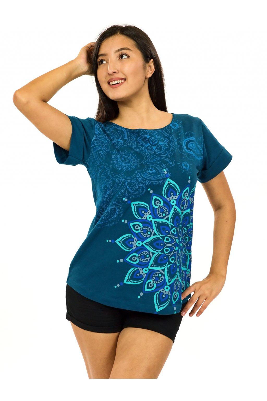 Tričko s krátkým rukávem Zafira - petrolejová