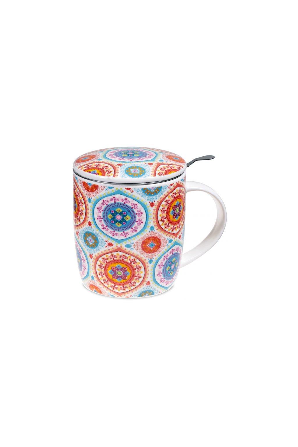 Čajový set Mandala - barevný