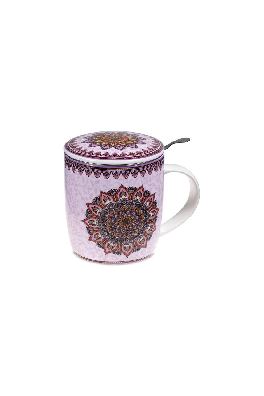 Čajový set Mandala - fialový