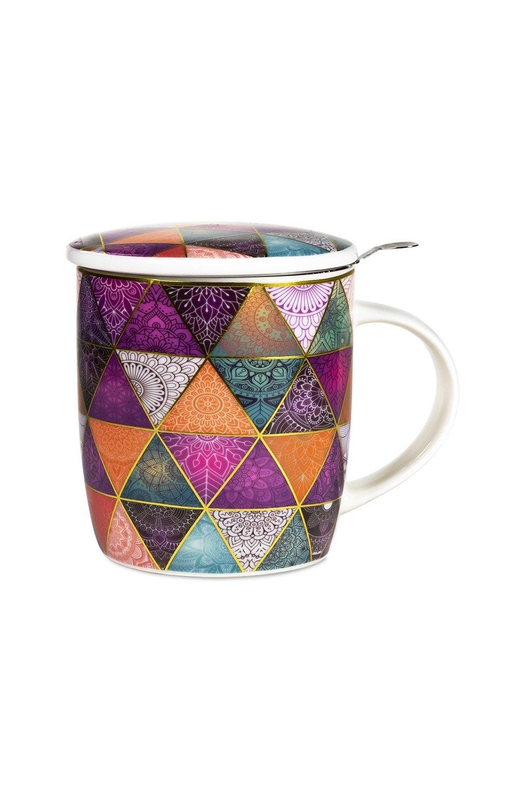 Čajový set Mandala - patchwork