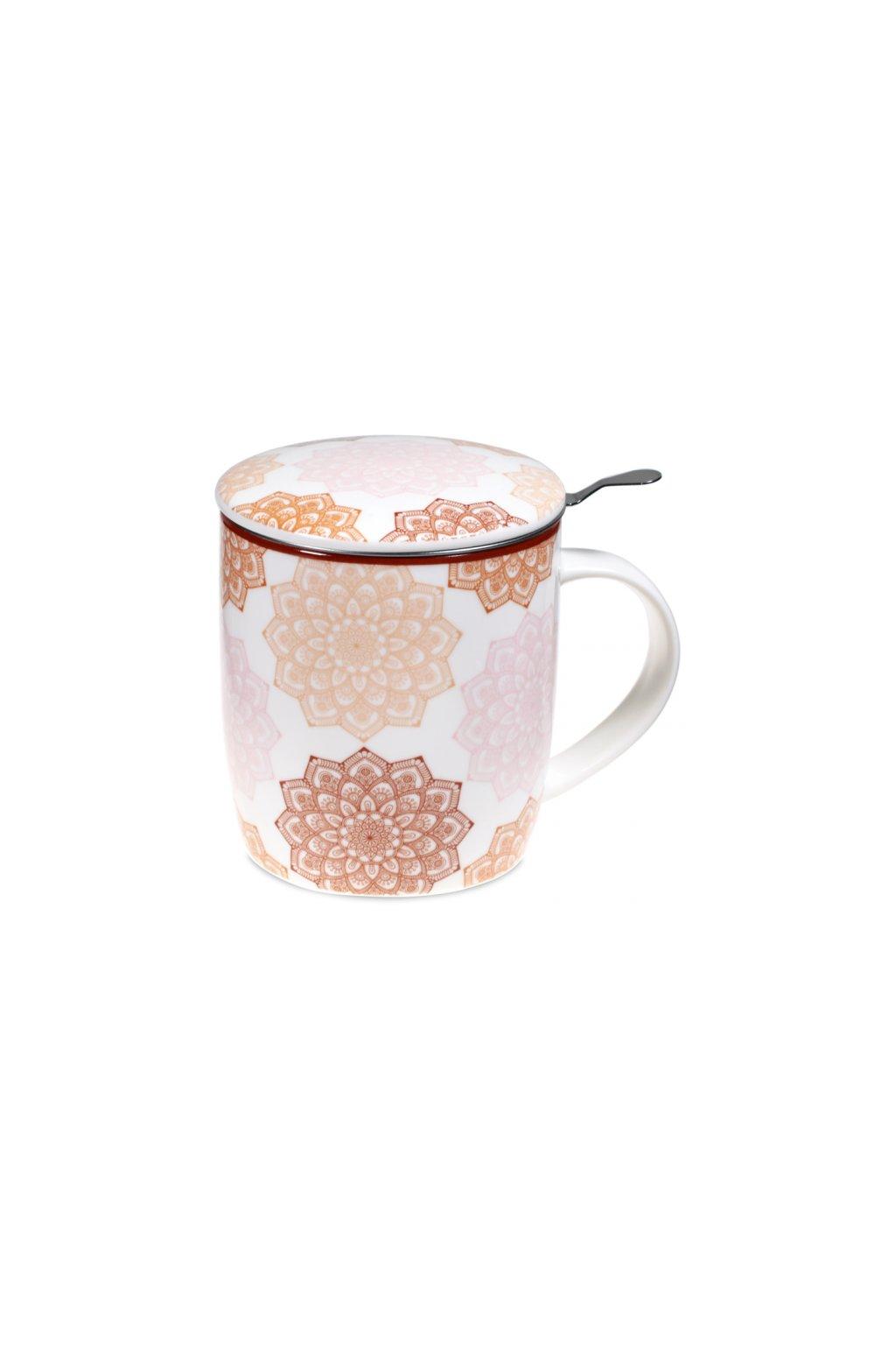 Čajový set Mandala - růžový
