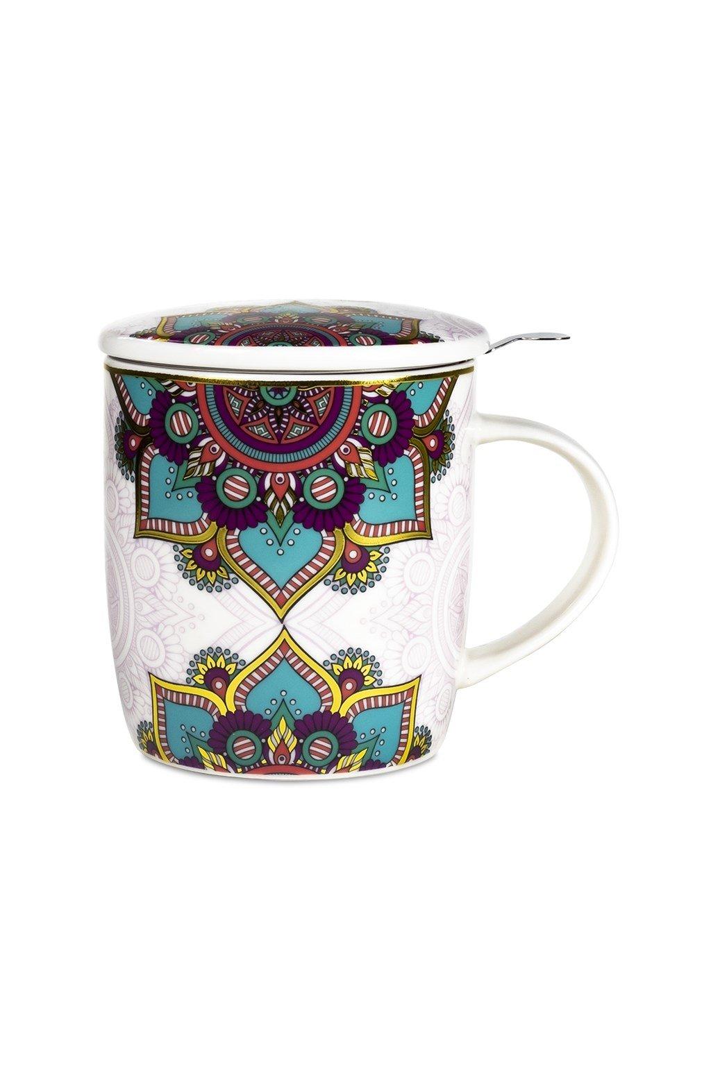 Čajový set Mandala - tyrkys