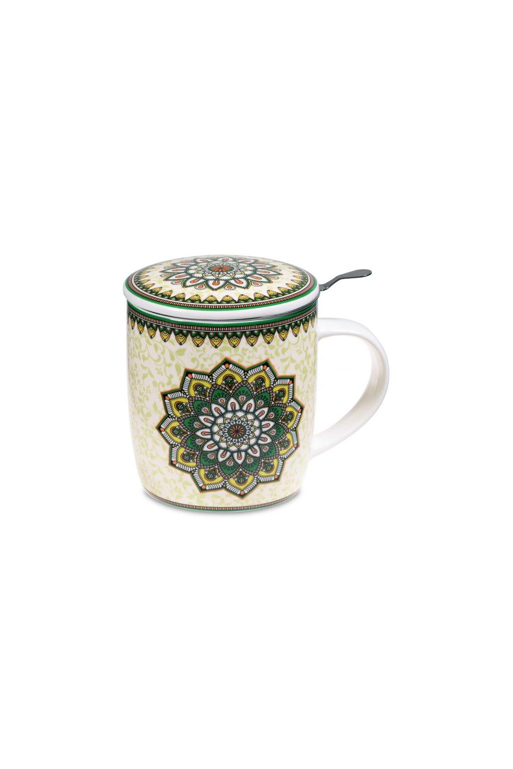 Čajový set Mandala - zelený