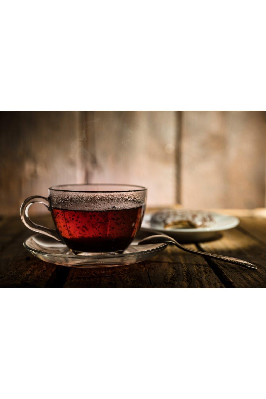 Černý čaj s květy Rhododendronu