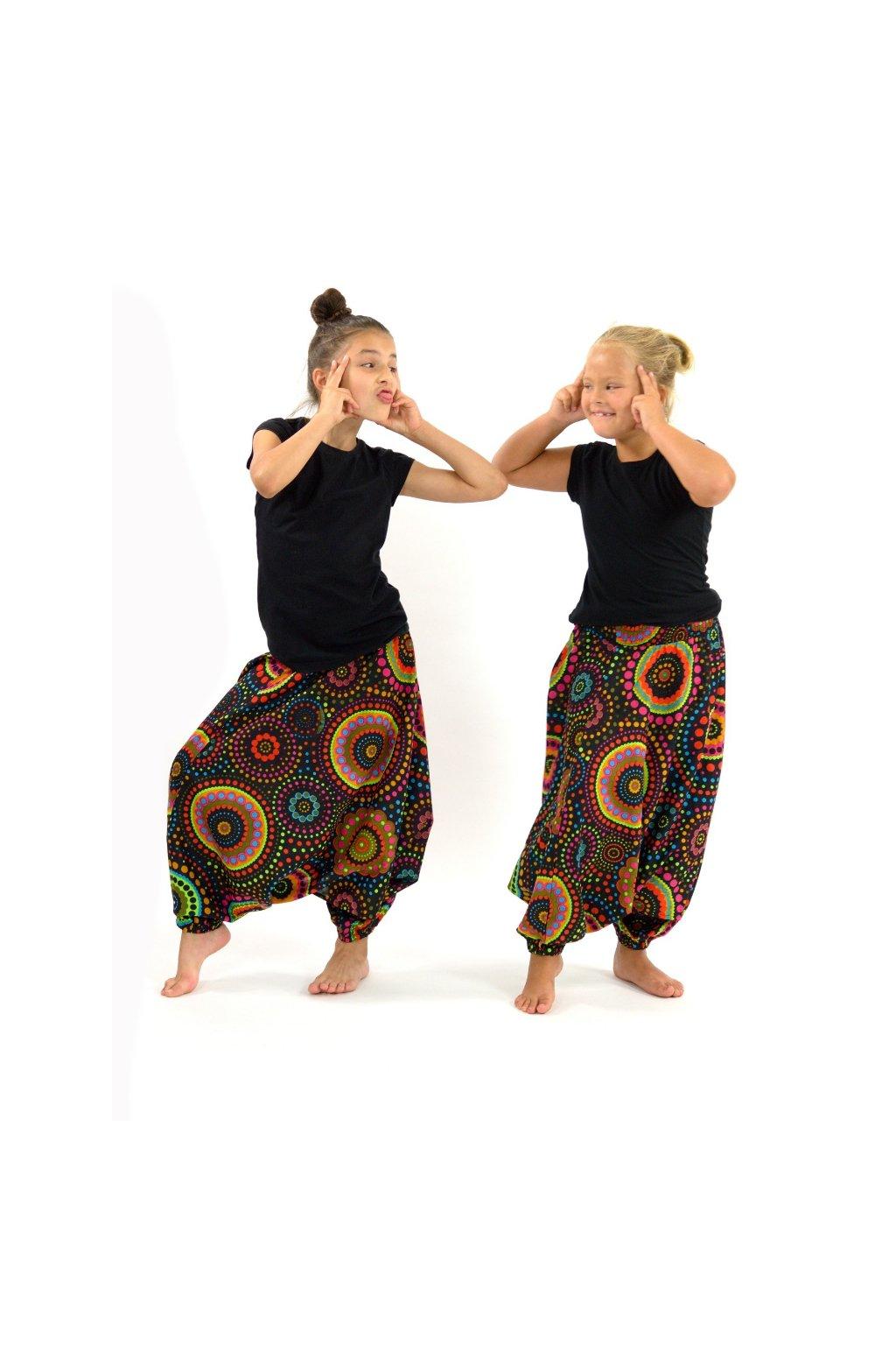 Dětské kalhoty-šaty-top 3v1 Dot - černé
