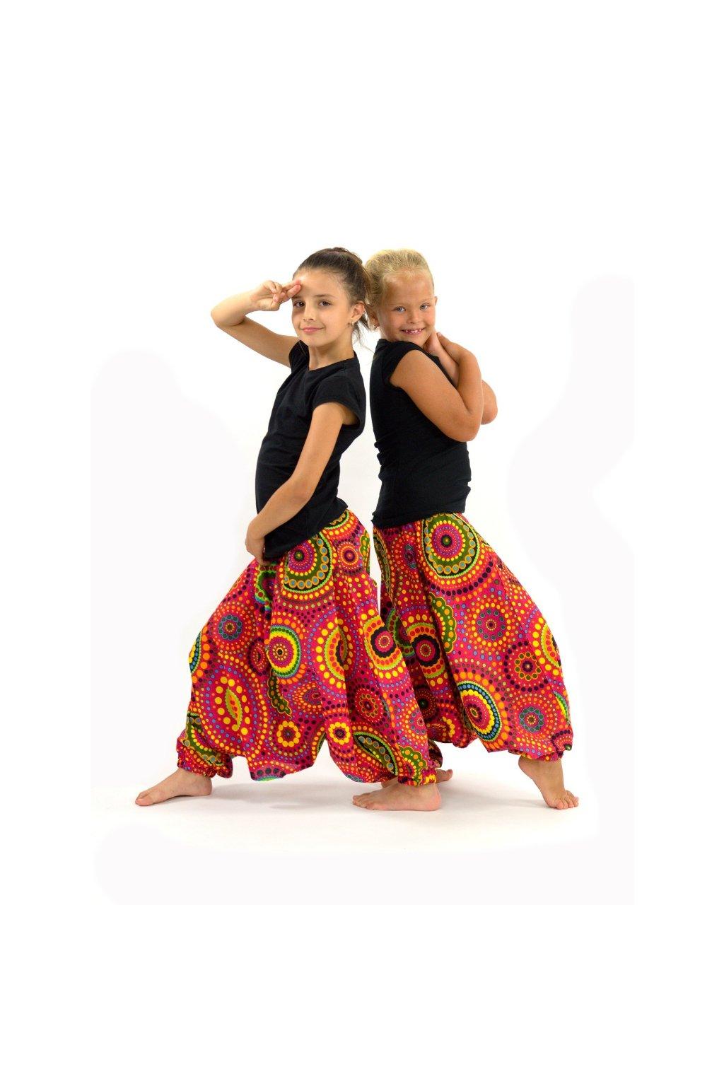 Dětské kalhoty-šaty-top 3v1 Dot - růžové