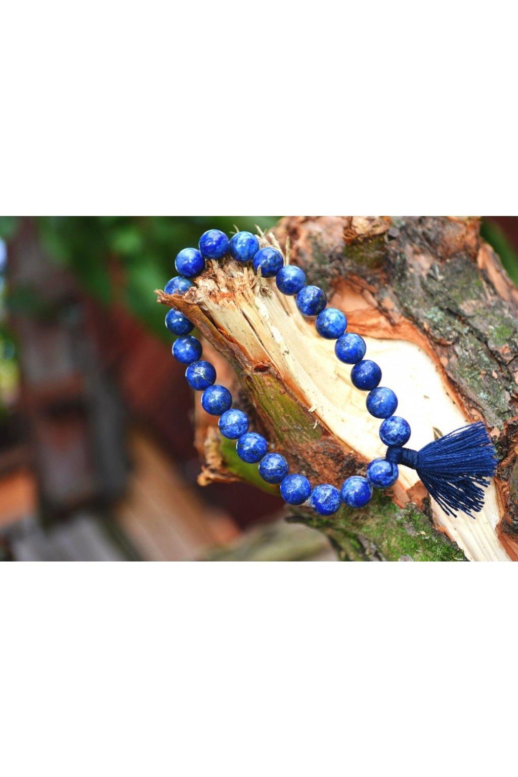 Energetický náramek lapis lazuli se střapečkem