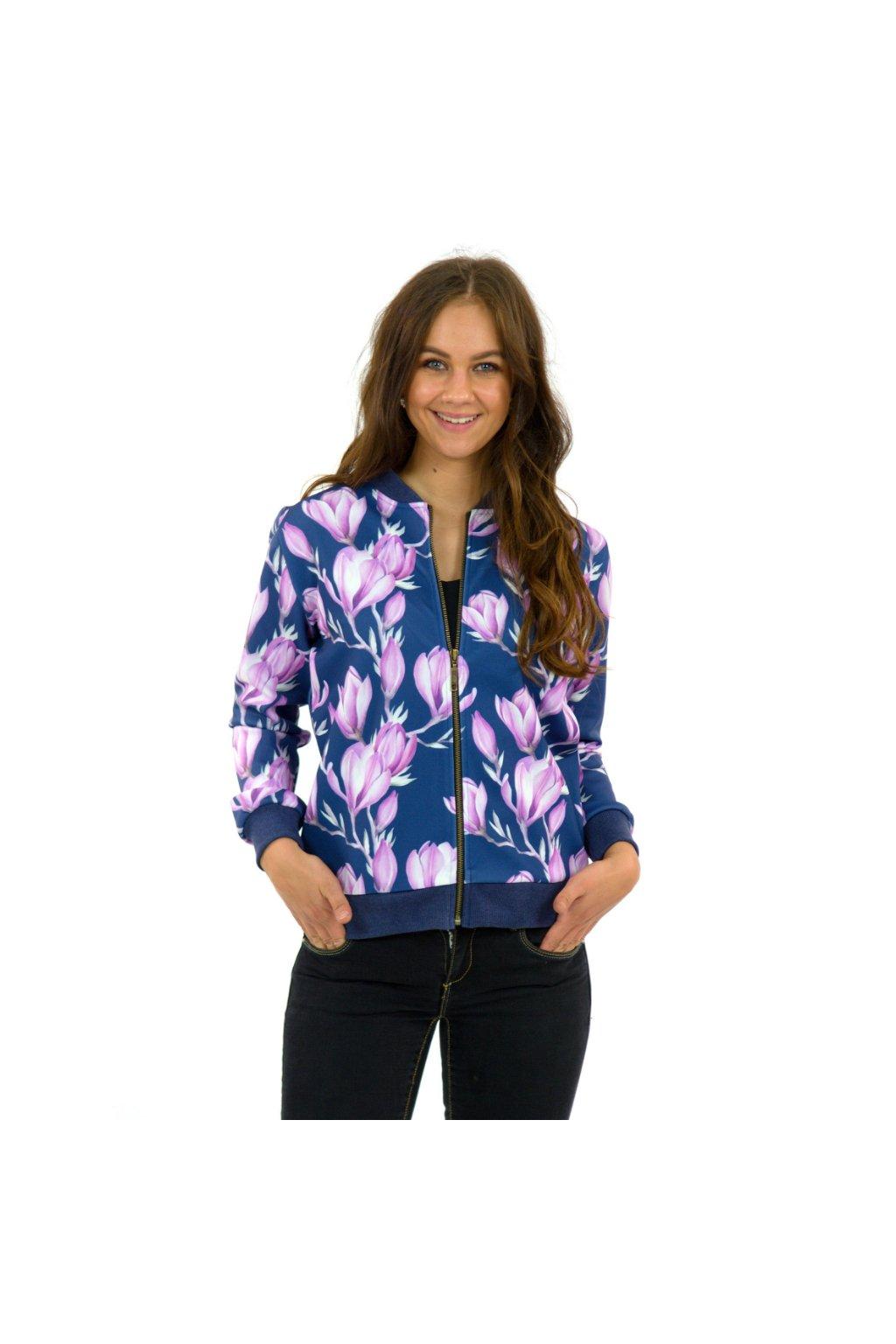 Jarní/letní bomber kabátek - Magnólie
