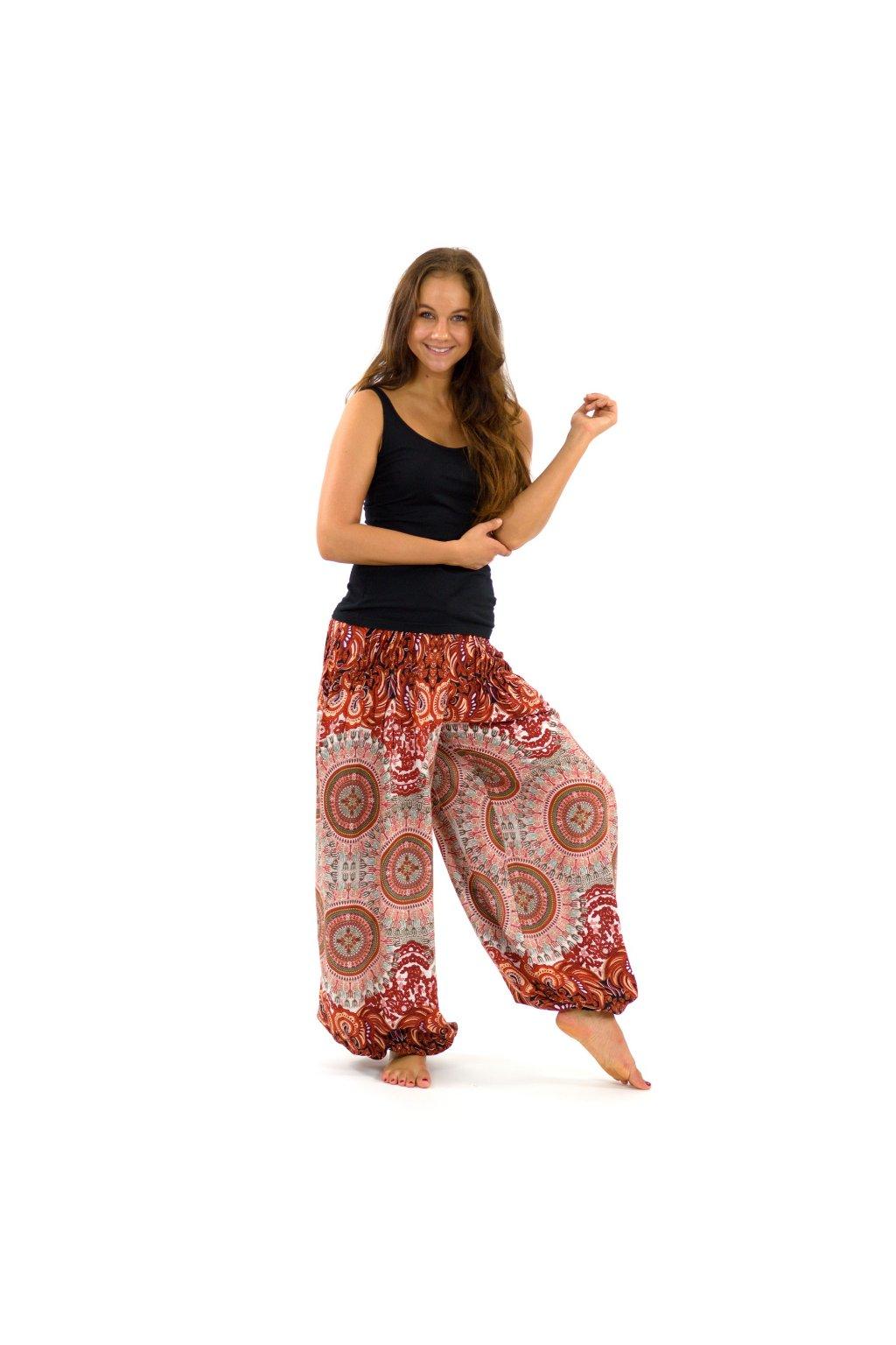 Kalhoty Nishal - hnědé