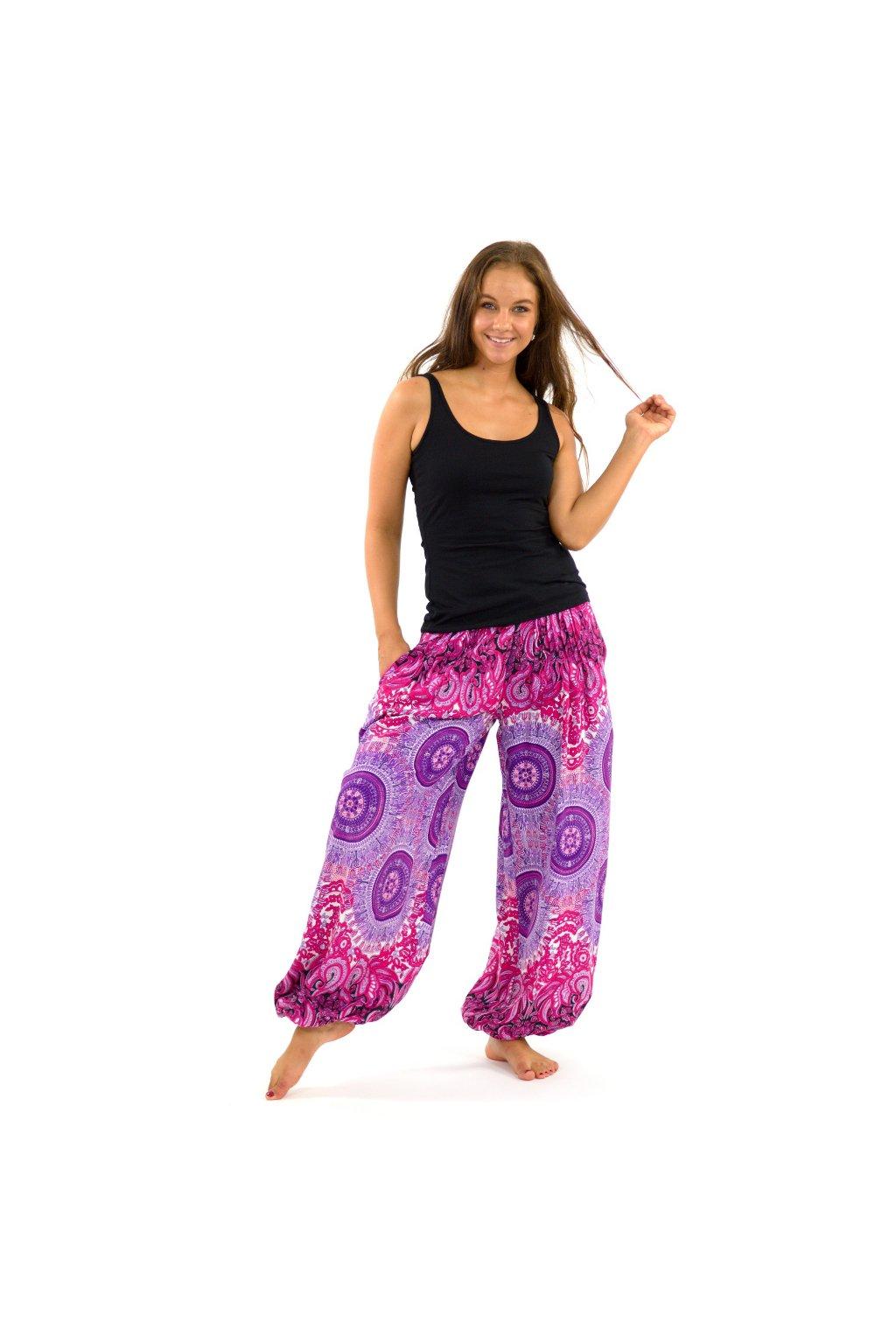 Kalhoty Nishal - růžové