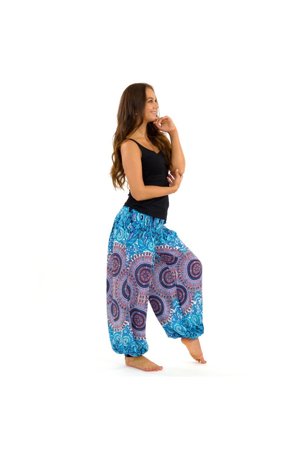 Kalhoty Nishal - tyrkysové