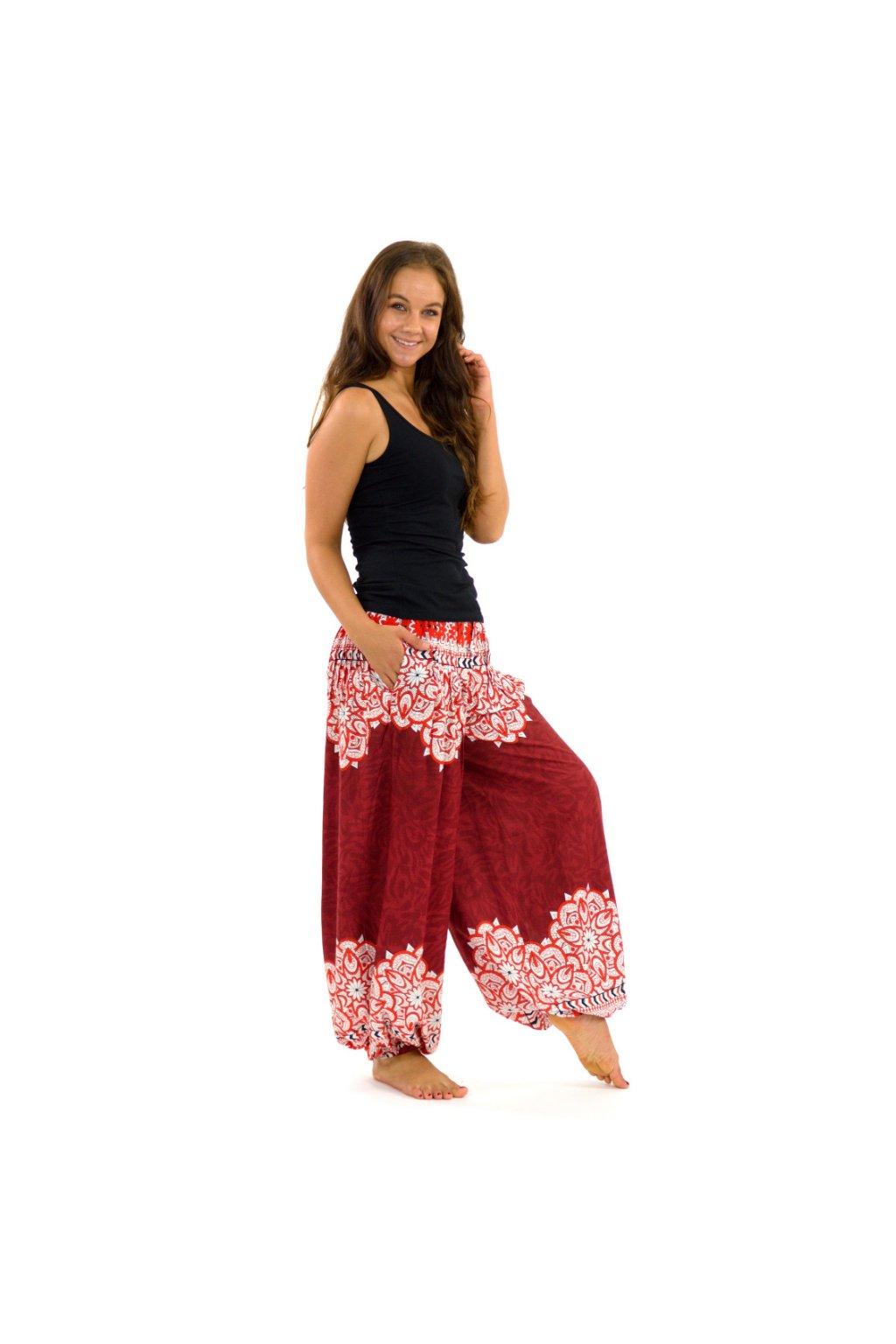 Kalhoty Tiaki - červené