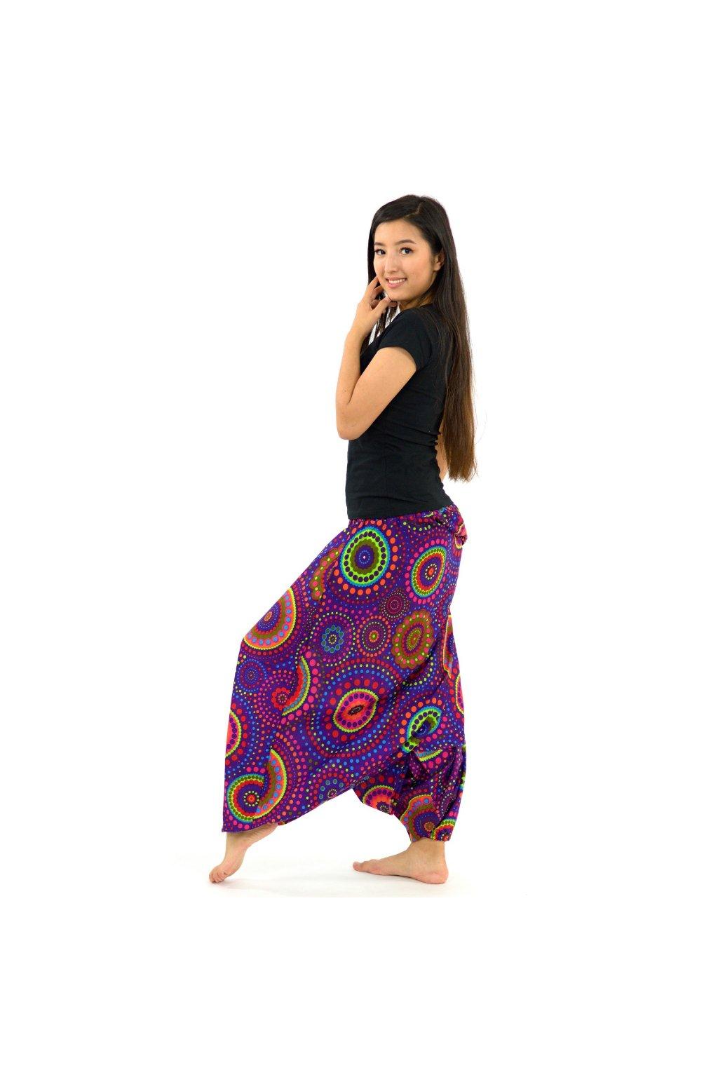 Kalhoty-šaty-top 3v1 Dot - fialové