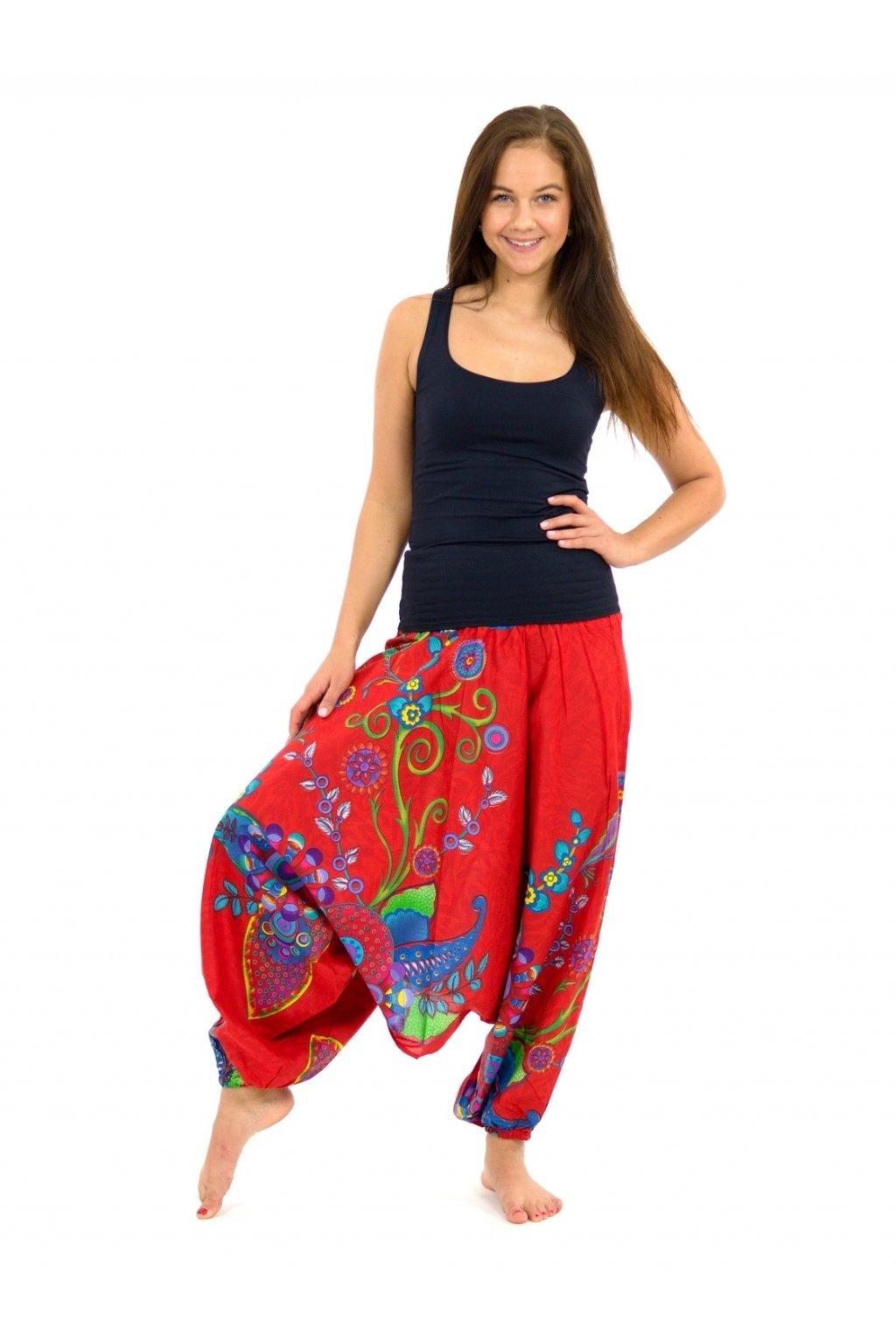 Kalhoty-šaty-top 3v1 Garden of Nepal - červené