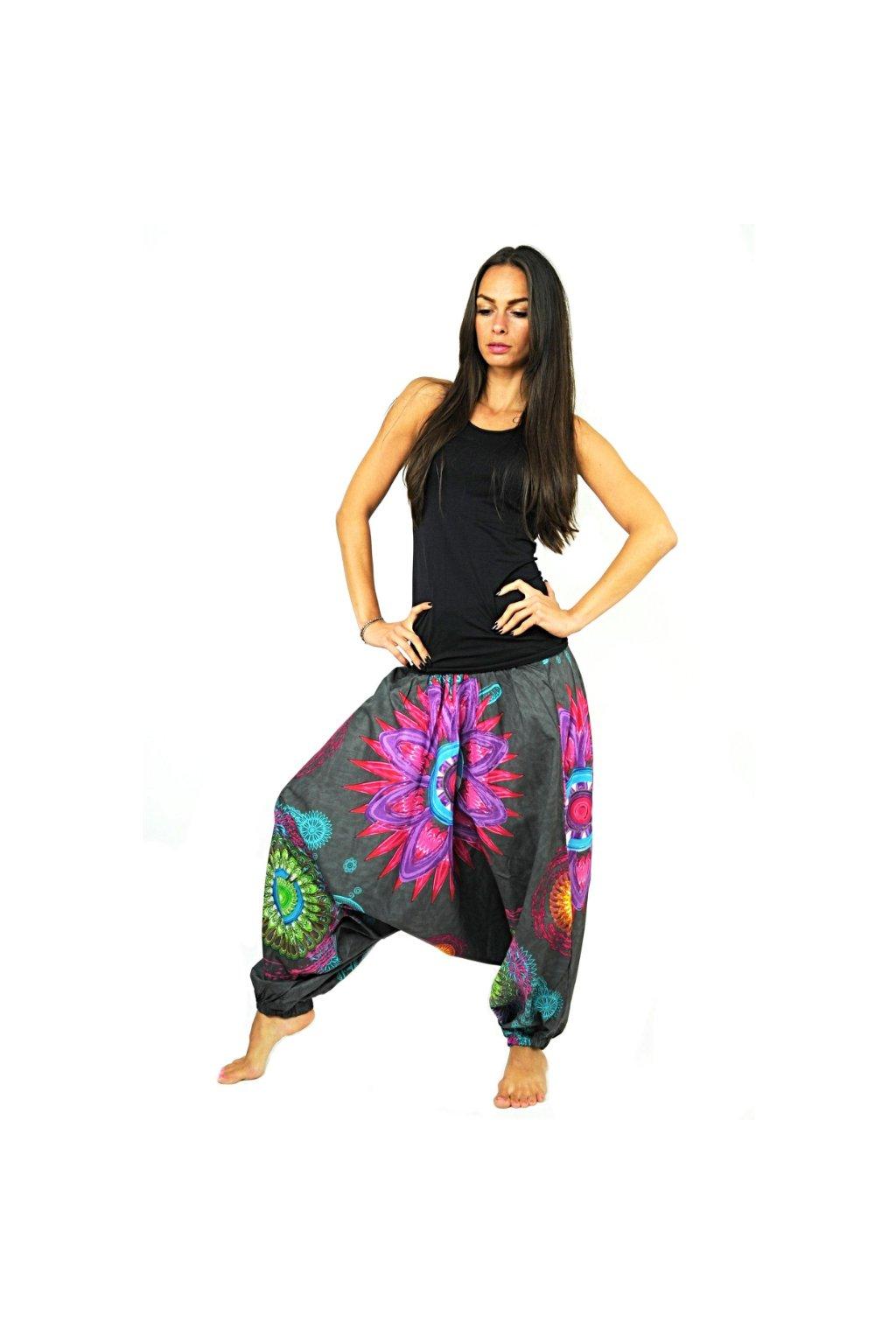 Kalhoty-šaty-top 3v1 Mandala of Nepal - šedé