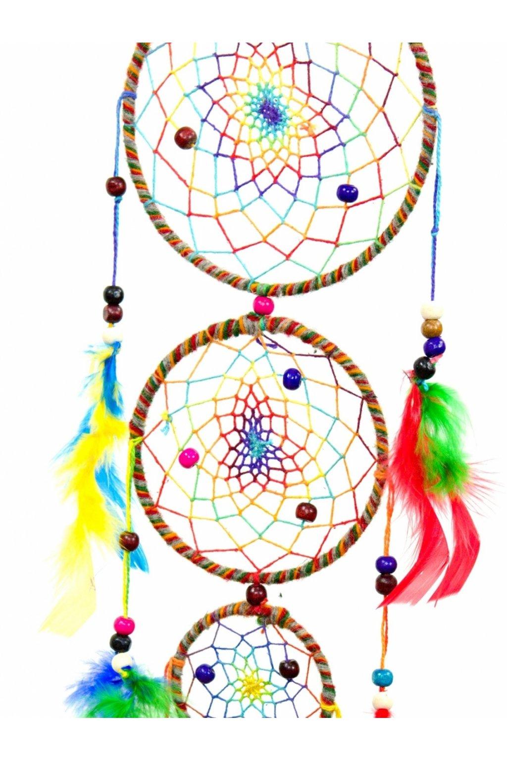Lapač snů  ručně vyrobený 3v1 - barevný malý