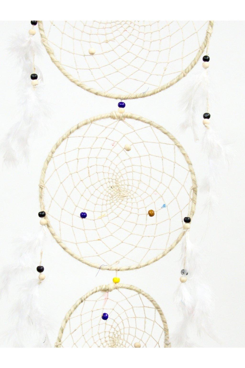 Lapač snů  ručně vyrobený 3v1 - bílý