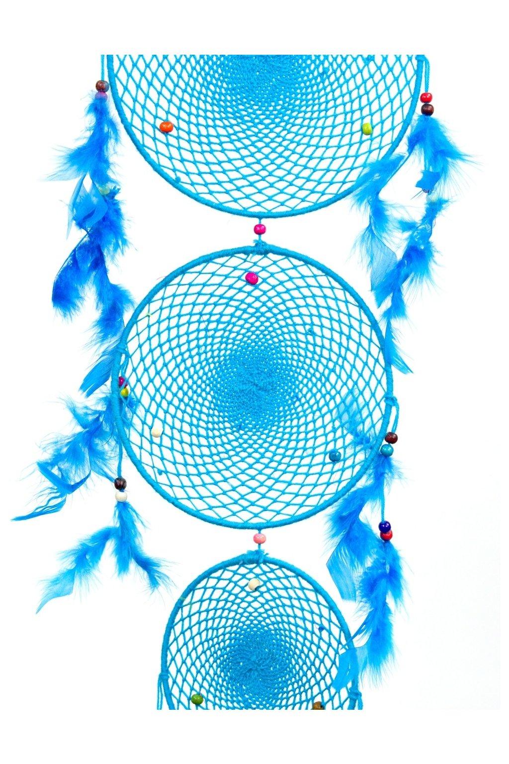 Lapač snů  ručně vyrobený 3v1 - modrý