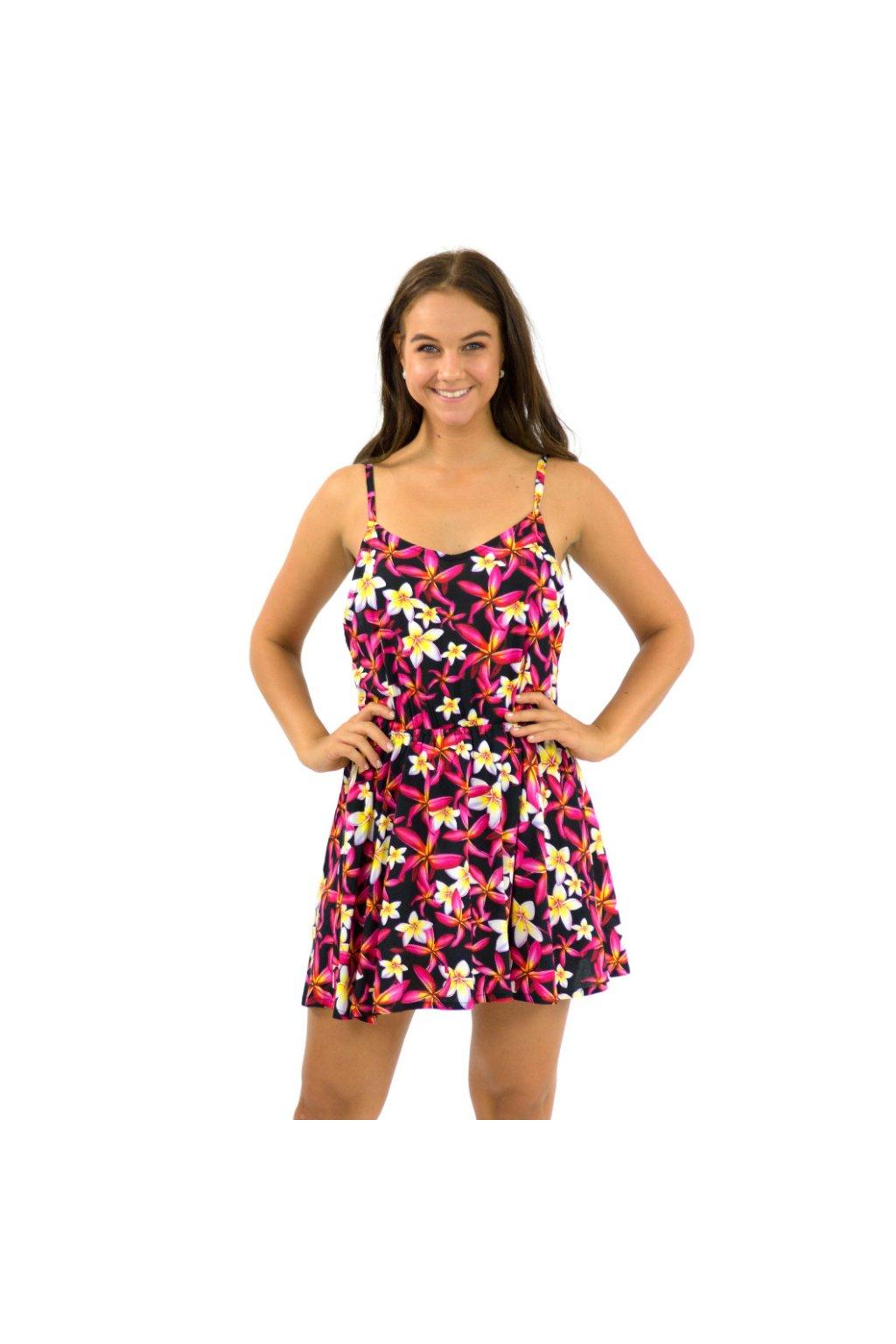 Letní šaty / tílko Plumerie - černé