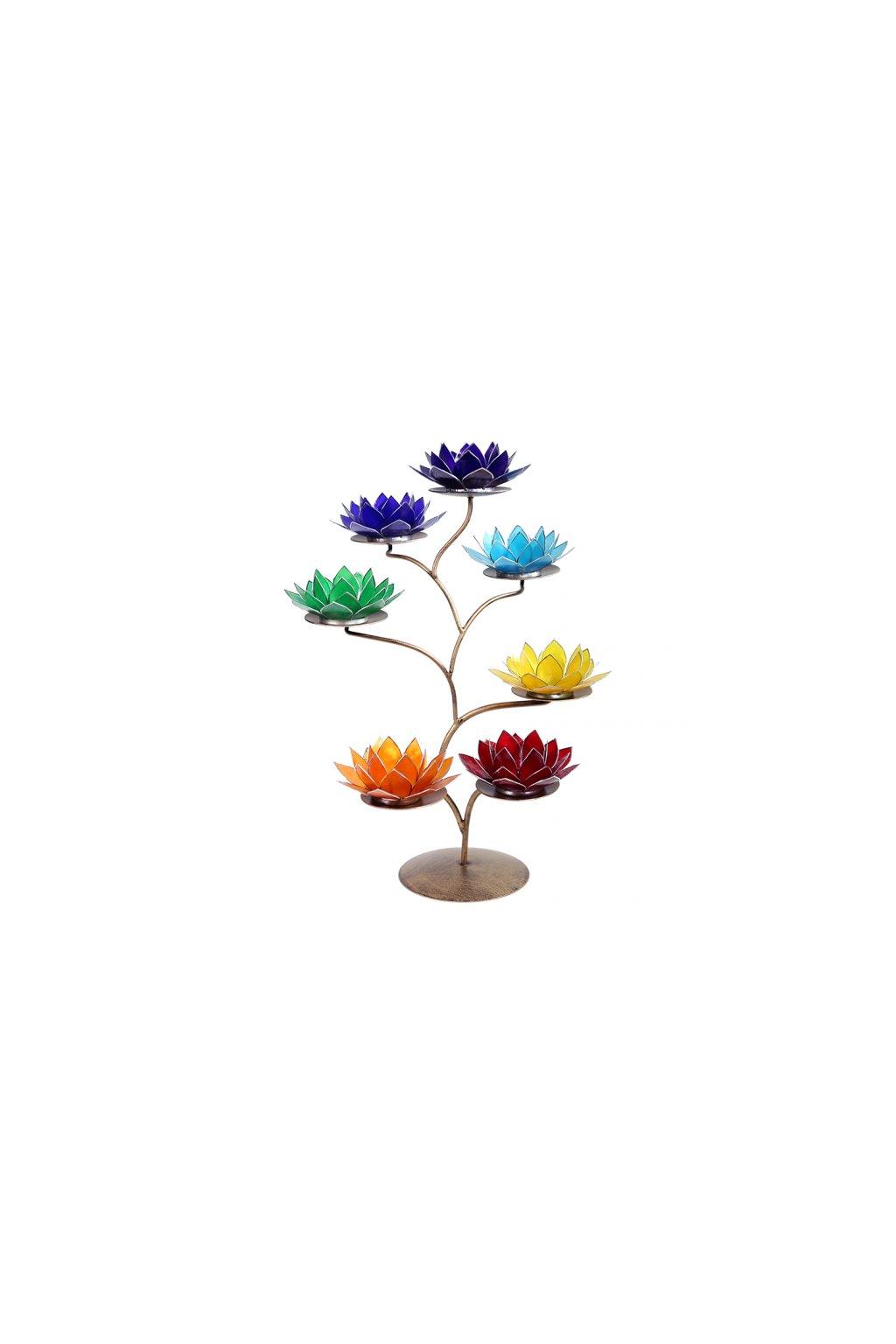 Lotosový strom/svícen 7 čaker - Antic
