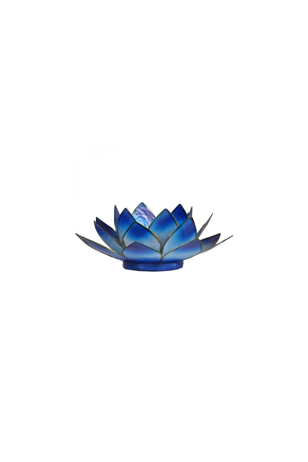 Lotosový svícen - modrá