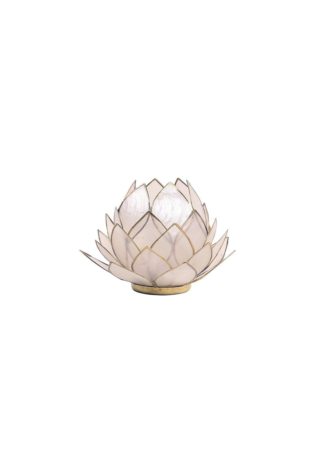Lotosový svícen - Natural - velký