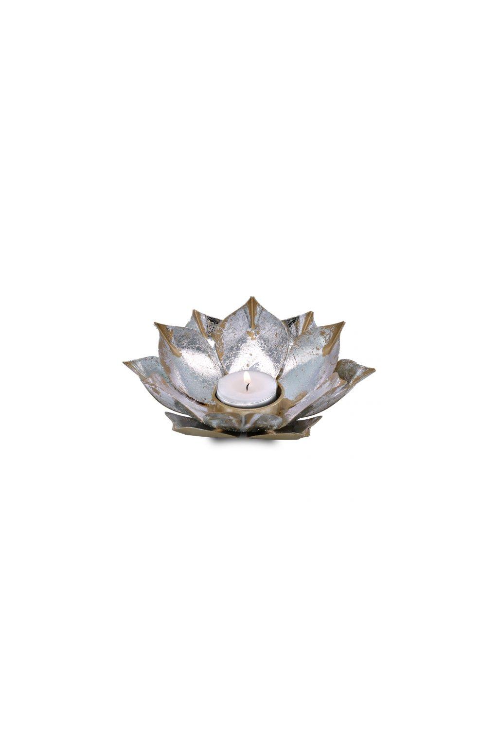 Lotosový svícen - Otevřený lotos