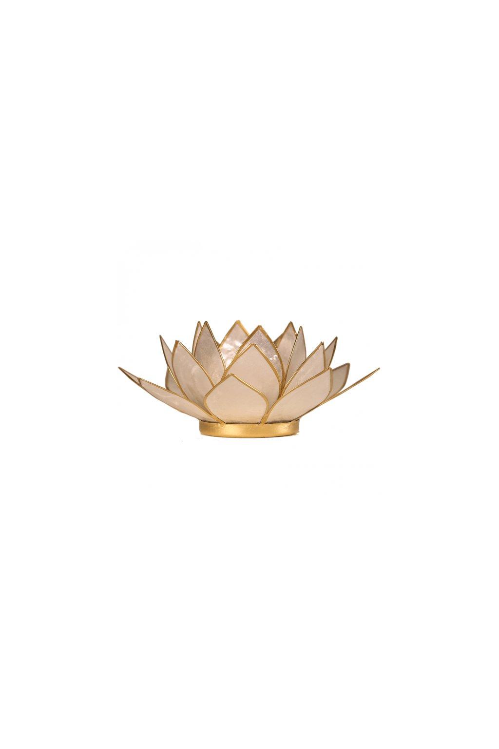 Lotosový svícen - perleťová