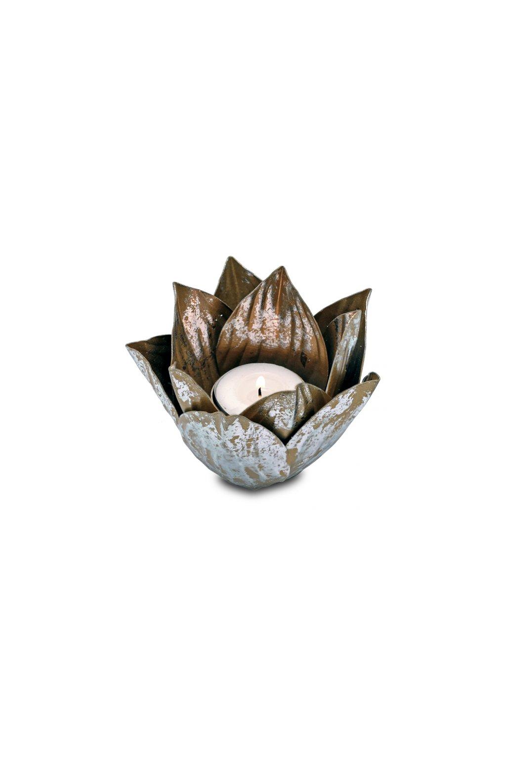 Lotosový svícen - Uzavřený lotos