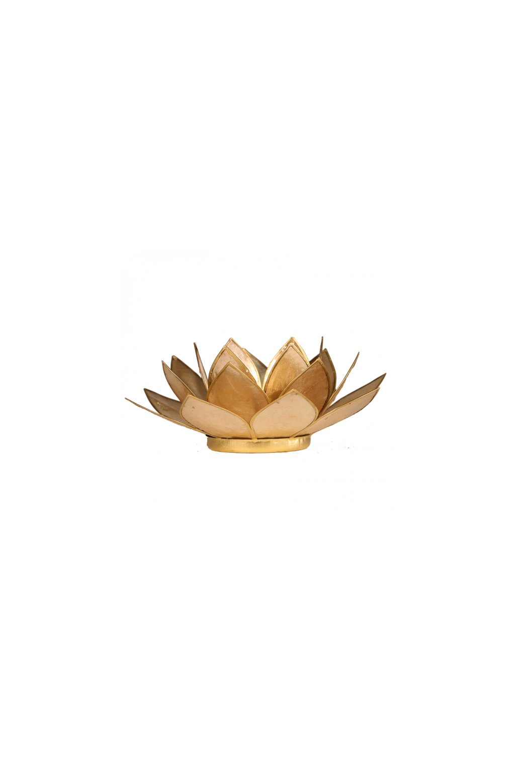 Lotosový svícen - zlatá