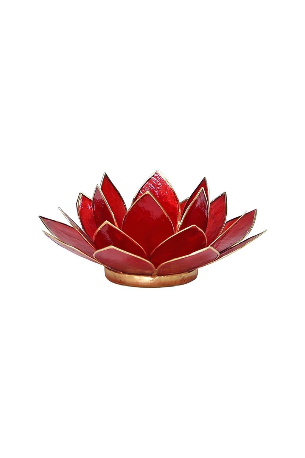 Lotosový svícen 1. čakra - zlatý okraj