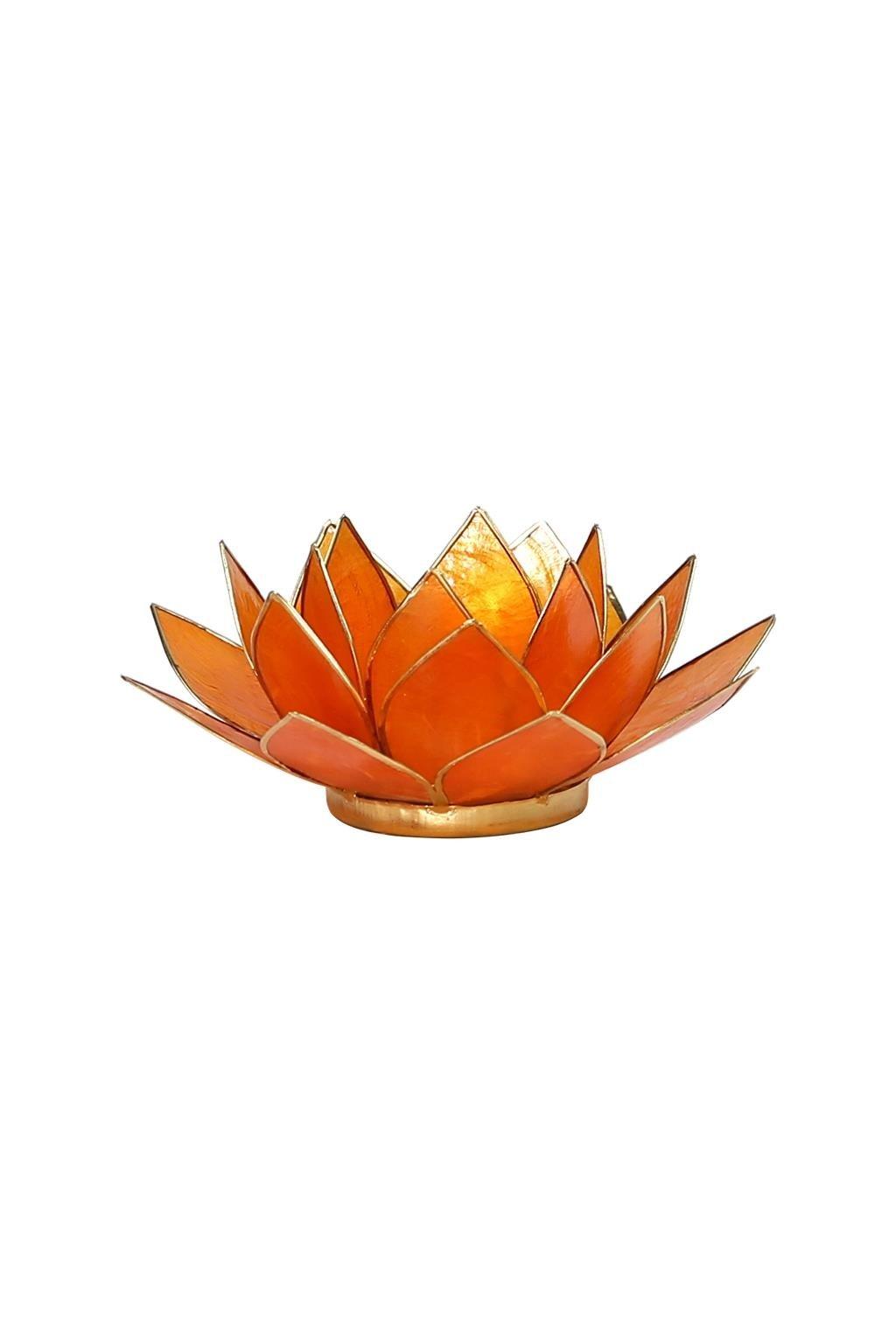 Lotosový svícen 2. čakra - zlatý okraj